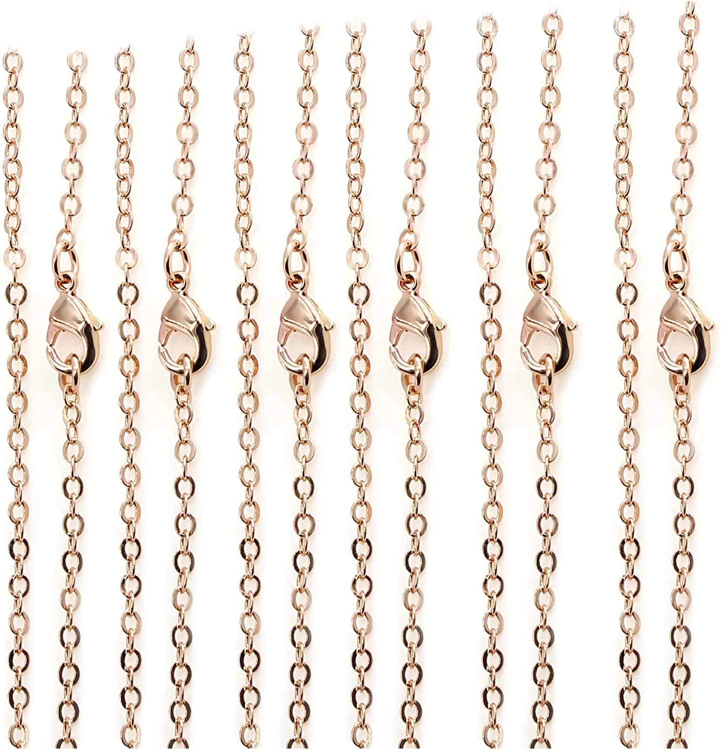 Pack of 100 Rose Gold Plated Maki for Jewelry Cable It is High quality very popular Brass Chains