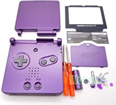 Full Housing Case Cover Housing Shell Replacement for Game boy Advance SP GBA SP Shell Case with Buttons Kit-Purple