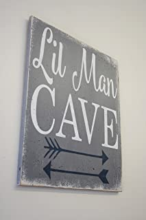Little Man Cave Wood Sign Nursery Decor Boys Nursery Wall Art