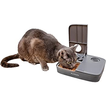 PetSafe Dog and Cat Food Dispenser, 5 Meal with Digital Clock or 2 Meal Tamper Resistant with Dials Automatic Pet Feeders, Portion Control, Holds Dry Food