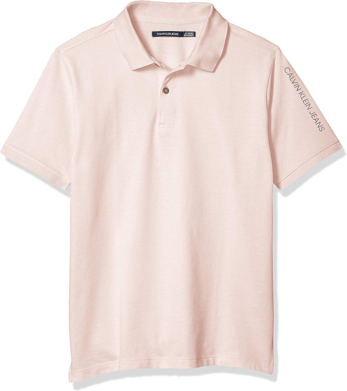 Calvin Klein Boys' Short Polo_Obsolete Solid Max 87% OFF Regular discount Sleeve