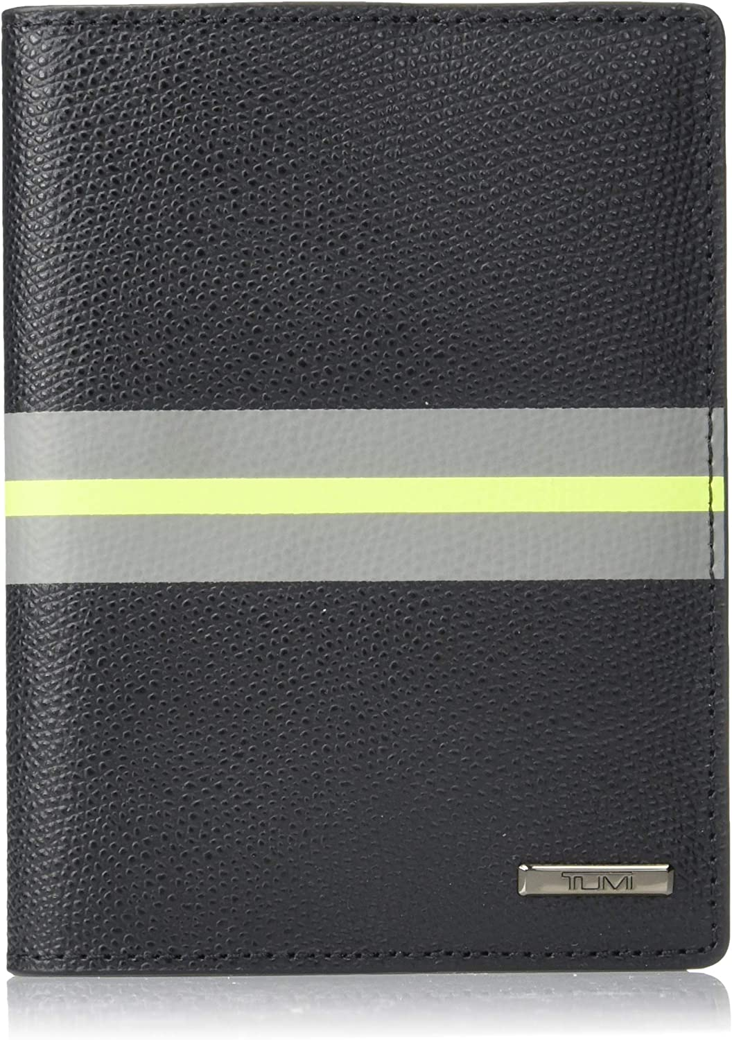 | TUMI - Province Passport Cover Holder - Wallet for Men and Women - Black Stripe | Passport Covers