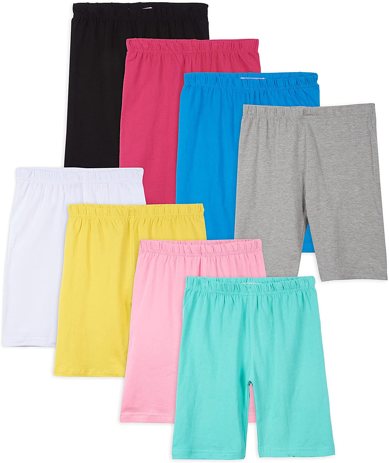 Pink Angel Price reduction Kids Girls Cotton Spandex Plain Bike Outlet sale feature Solid Sp Shorts