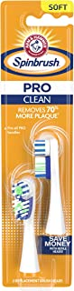 ARM & HAMMER Spinbrush PRO Series Daily Clean Replacement Brush Heads, Soft, 2 Count
