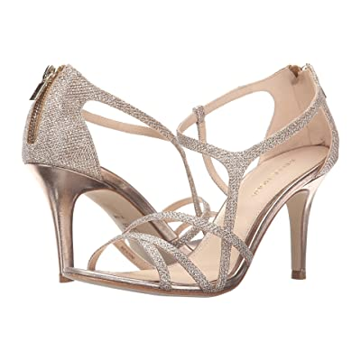 Pelle Moda Ruby (Platinum Gold Metallic Textile) High Heels