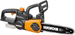 WORX WG322E.9 batteridriven motorsåg 20 V – praktisk träsåg för trädgårdar och byggnadsarbeten – med 25 cm skärlängd och a...