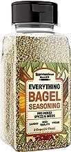 Everything Bagel Seasoning, 2 cup Shaker Jar, Add Texture & Flavor to Any Recipe, Mix of Sesame Seeds, Poppy Seeds, Garlic, Onion & Salt, Convenient Shaker Jar