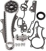 SCITOO TTK-114-HD Timing Chain Kit Tensioner Guide Rails Cam Sprocket Crank Sprocket Water Pump fits for 85-93 Toyota Pickup SR5 2.4L SOHC 22R/RE/REC
