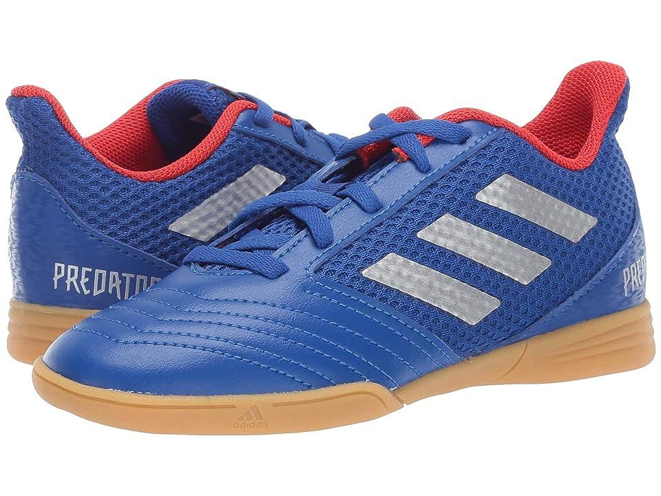 adidas Kids Predator 19.4 IN Sala Soccer (Little Kid/Big Kid) (Blue/Silver/Active Red) Kids Shoes
