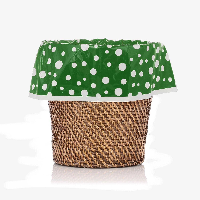 DESIGNERLINERS Abfallkorb Mülltüte, grün Polka Dot 12 Stück B010KOG0AO | Am wirtschaftlichsten