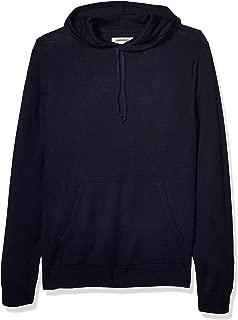Amazon Brand - Goodthreads Men's Merino Wool/Acrylic Pullover Hoodie Sweater, Navy Medium