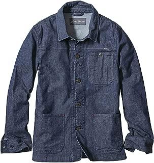 [エディー・バウアー] Eddie Bauer ドビーデニムストレッチバックマウンテンカバーオール(ウォーターリぺラント 撥水加工) デニムジャケット メンズ