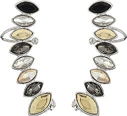 Rebecca Minkoff - Stacked Sparkler Ear Climber Earrings
