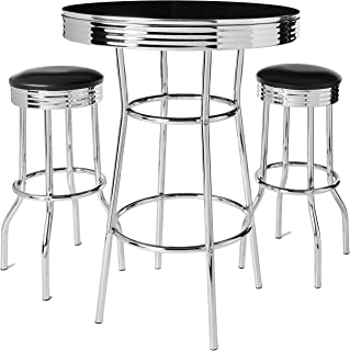 Amazon Com 50 S Retro Table And Chairs Furniture Home Kitchen
