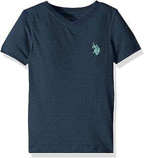 U.S. POLO ASSN. boys Short Sleeve Classic V-Neck T-Shirt T-Shirt