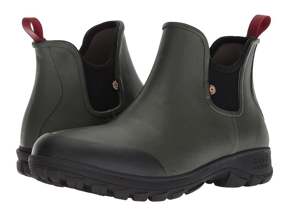 Bogs Sauvie Slip-On Boot (Dark Green) Men