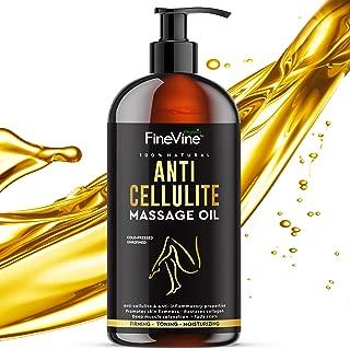 Natural Anti Cellulite Massage Oil| Cellulite Oil for Men & Women| Removes Cellulite & Tightens Skin| Cellulite Remover Gets Rid of Fat Tissue & Eliminates Dimples| Celulitis Treat-ment Made in USA