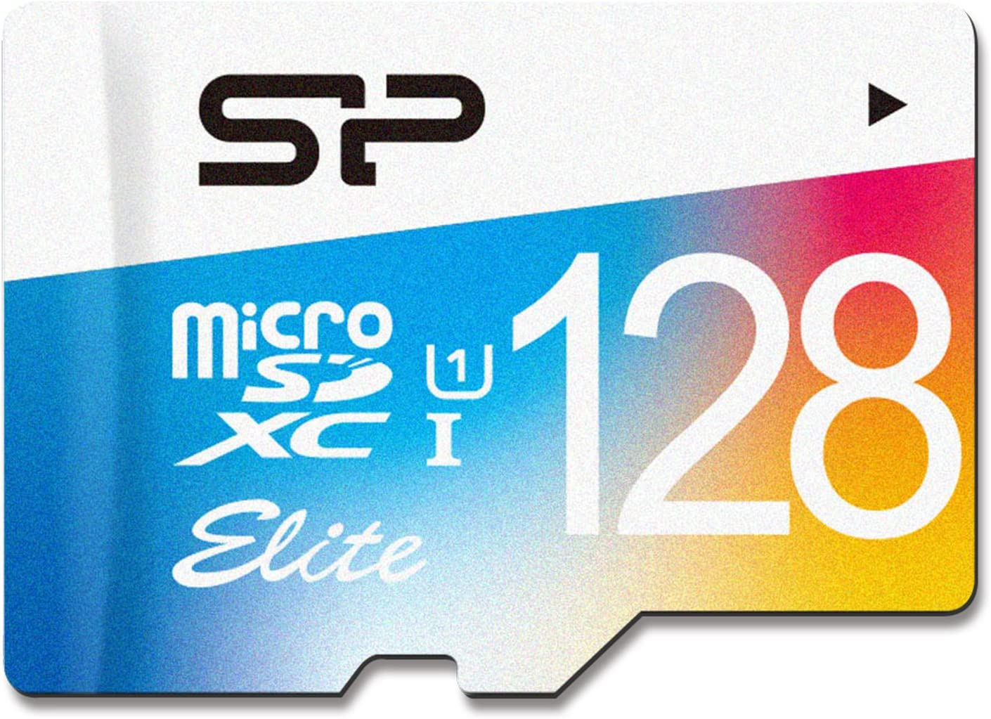 Silicon Power 128GB MicroSDXC UHS-1 Class10, Elite Flash Memory Card with Adapter