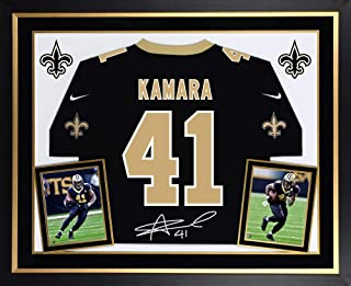 Alvin Kamara New Orleans Saints Deluxe Framed Autographed Nike Black Game Jersey - Fanatics Authentic Certified