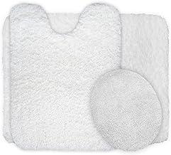 Lavish Home 3-Piece Super Plush Non-Slip Bath Mat Rug Set White