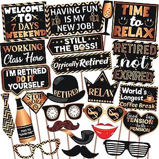 Wobbox Retirement Photo Booth Party Props Copper Golden & Black, Retirement Party Decoration, Retirement Decoration Item