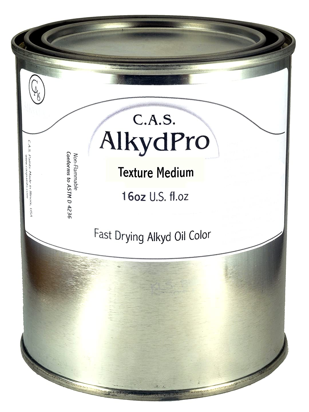 C.A.S. Paints AlkydPro Texture Medium Color Paint Can, 16-Ounce