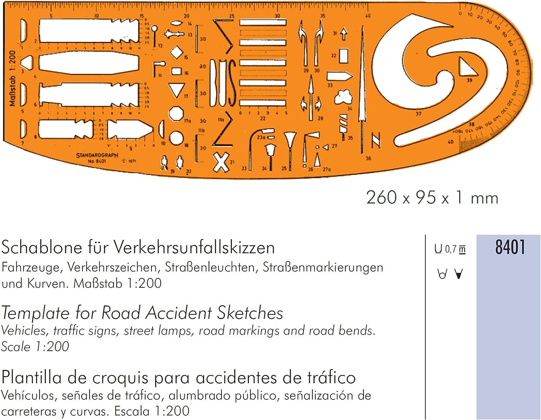 Schablone Verkehrsunfallskizzen - Sonstige Produkte Produkte Produkte B000WKZBWK    | Für Ihre Wahl  de305e