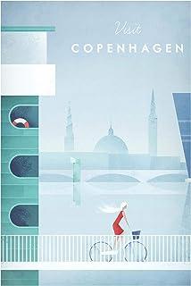 Bilderwelten Pizarra magnética - Travel Poster - Copenhagen 90x60cm