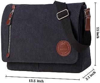 Crosshatch Nabure Messenger Bag Laptop School College Navy