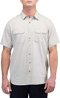 5.11 战术男式人字纹短袖衬衫,蟒蛇人字纹,中号