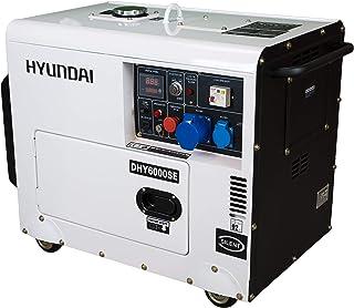 comprar comparacion HYUNDAI HY-DHY6000SE Generador Diesel, 5.2 W, 230 V, Blanco/Negro
