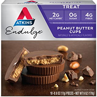 Atkins Endulge Treat, Peanut Butter Cups, Keto Friendly, 60 Count (Value Pack)