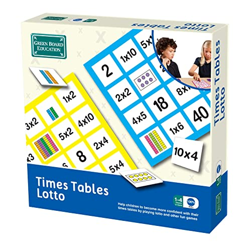 Green Board Games Times Tables Lotto