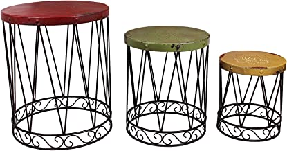 Attraction Design Metal Nostalgia Nested Table (Set of 3)