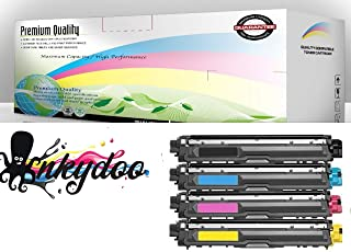 InkyDoo Compatible TN-221/ TN-225 Hi-Yield 4 Color Toner Replacement Set- for Brother HL-3140, HL-3170, MFC-9130, MFC-9130CW