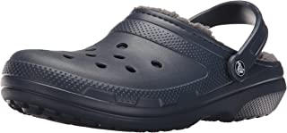 Crocs Unisex Yetişkin Classic Lined Clog Takunya, Navy/Charcoal, Renk, 46-47 Numara