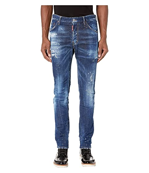 DSQUARED2 Cool Guy Jeans in Yellow Ripped Spots Wash