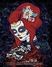2019-2023 Monthly Planner: Sugar Skull Red Head Woman Five Year Calendar 8.5x11 144 Pages