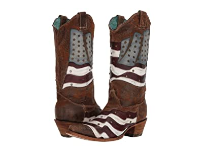 Corral Boots C3222 (Sand/Multi) Cowboy Boots
