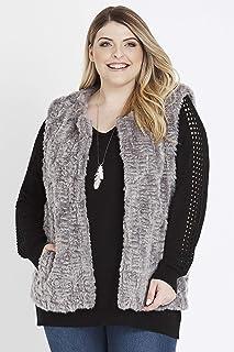 Beme Sleeveless Fur Vest - Womens Plus Size Curvy