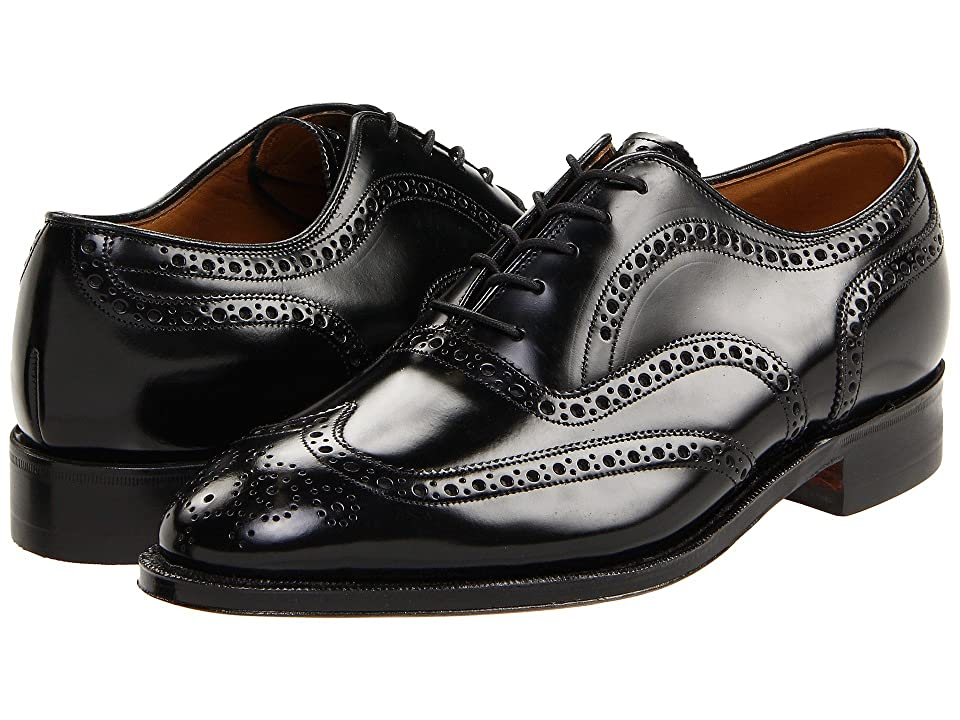 Mens Vintage Style Shoes| Retro Classic Shoes Johnston amp Murphy - Waverly Black Mens Lace Up Wing Tip Shoes $178.95 AT vintagedancer.com