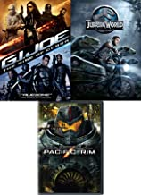 Joe Dino Rad Movie pack Jurassic World Dinosaur DVD + G.I. Joe Rise of the Cobra & Pacific Rim Sci-Fi Triple Feature Adventure
