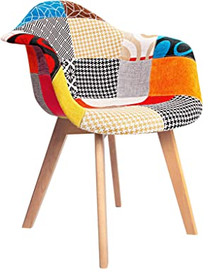 Dining Chairs Set of 2, Artiss Eames DSW Wooden Fabric Kitchen Chair