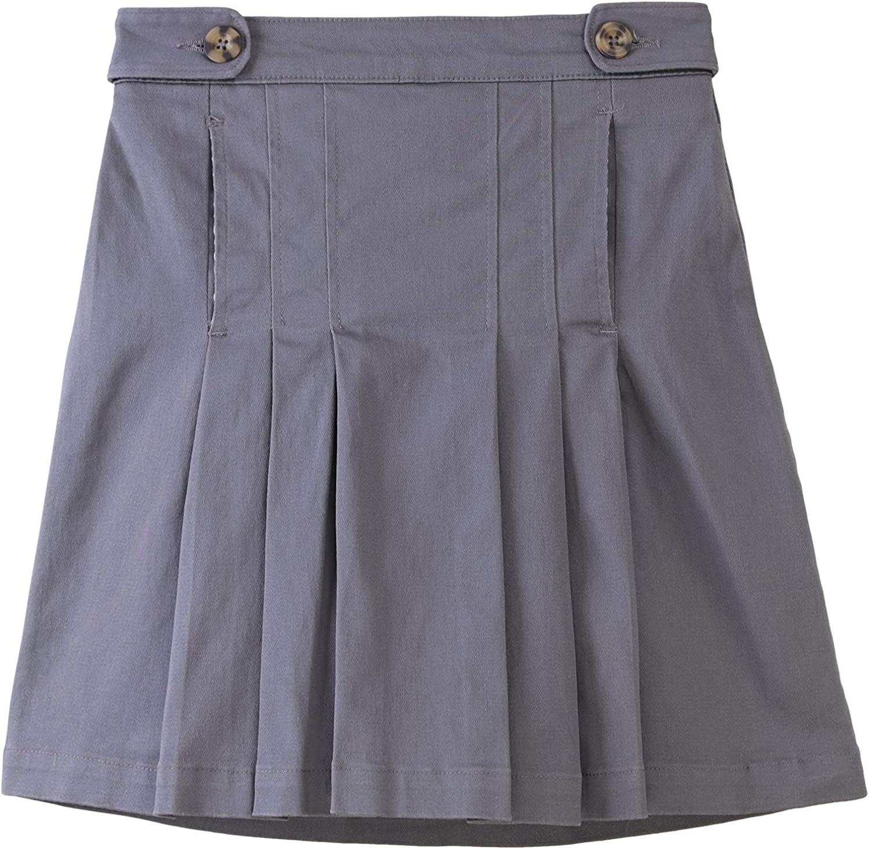 Bienzoe Girl's Cotton Stretchy Elastic New Free Shipping School Uniforms Wasit Ple free