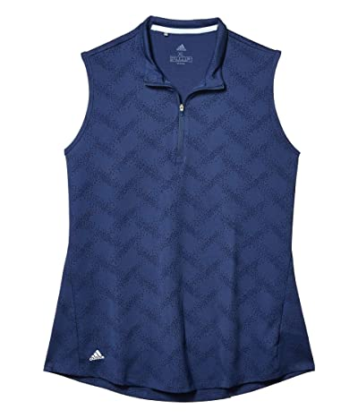 adidas Golf Jacquard Polo Shirt (Tech Indigo) Women