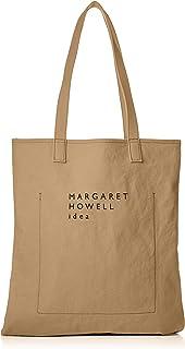 [マーガレット・ハウエル アイデア] トートバッグ ショルダーバッグ 【ノーレイ】ウォッシュドキャンバス素材 A3収納 縦型 マチなし
