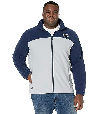 Columbia College Big Tall Penn State Nittany Lions CLG Flanker III Fleece Jacket (Collegiate Navy/Columbia Grey) Men