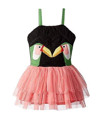 Stella McCartney Kids Toucan Patch Dress with Detachable Wings (Toddler/Little Kids/Big Kids) (Multi) Girl