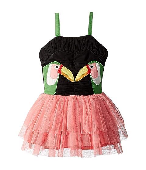 Stella McCartney Kids Toucan Patch Dress with Detachable Wings (Toddler/Little Kids/Big Kids)