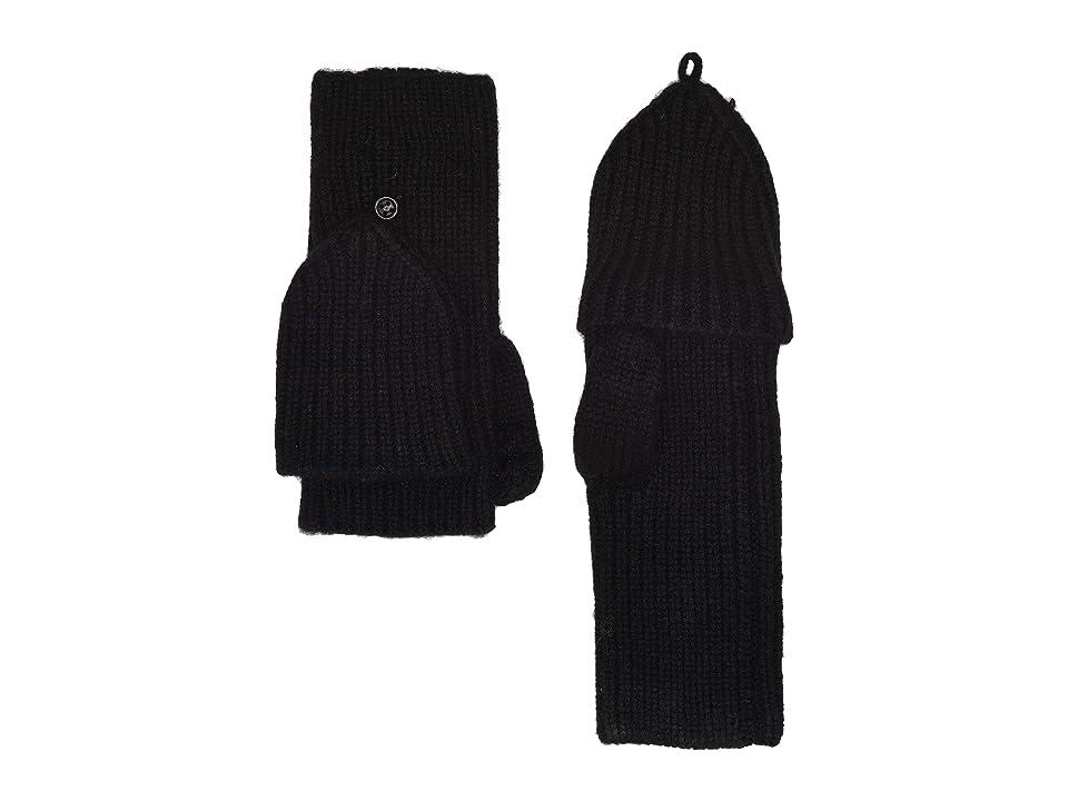 UGG Knit Flip Mitten (Black) Extreme Cold Weather Gloves